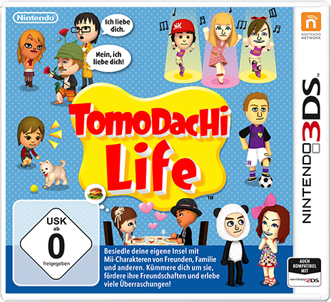 Tomodachi Life 3DS Cover
